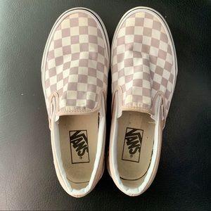 Vans rose/true white sneakers (womens 6.5)